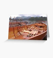 Row Boat Greeting Card