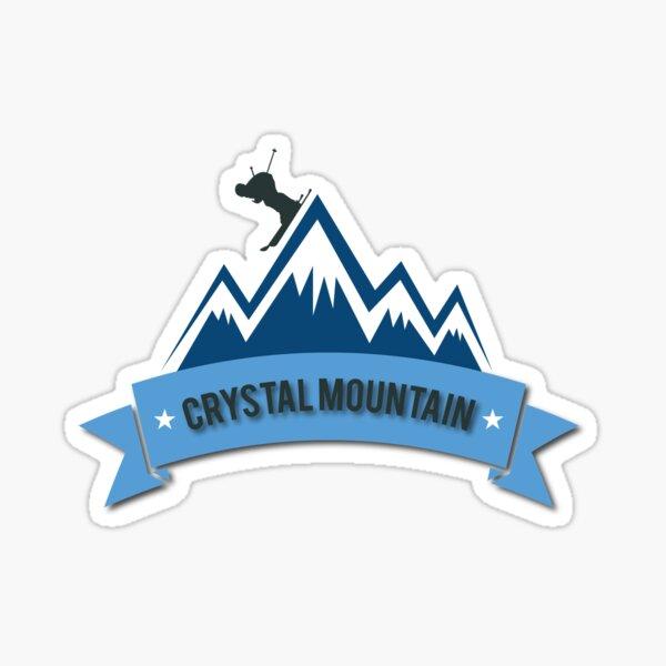 Crystal Mountain Skiing Sticker