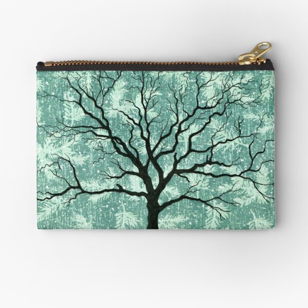 TREE ON DESIGN PAPER Zipper Pouch