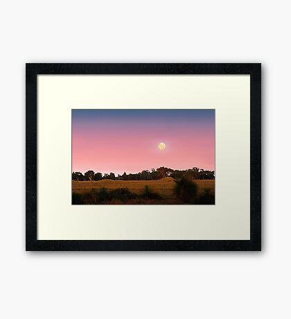 Moonrise At Dusk  Framed Print