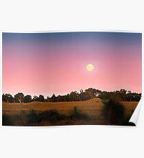Moonrise At Dusk  Poster