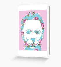 Floral Michael Pop Art Greeting Card