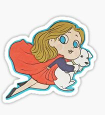Supergirl and Krypto Sticker
