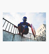 Captain SpiderMan 2 - DavidMenziesCosplay Photographic Print