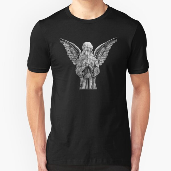 Angel - Statue Slim Fit T-Shirt