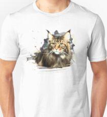 Maine coon art Unisex T-Shirt