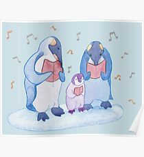 Penguin carols Poster