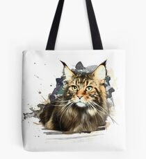 Maine coon art Tote Bag