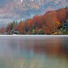 Autumn morning over Lake Bohinj by Ian Middleton