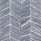 White Herringbone on Navy by papercanoe