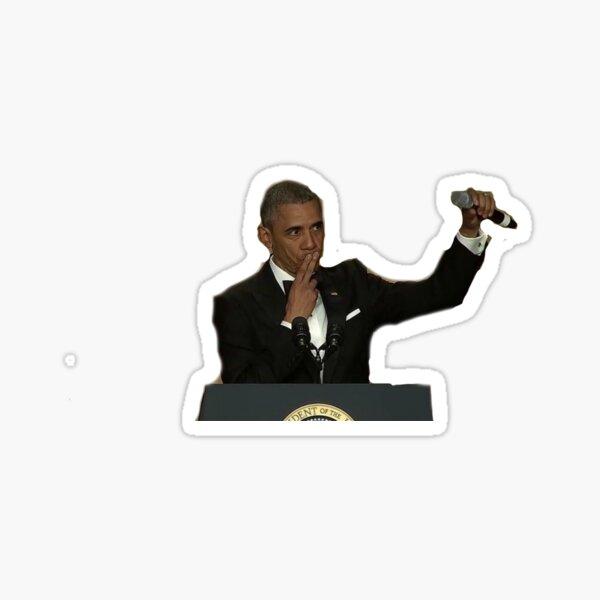 mic drop obama Sticker