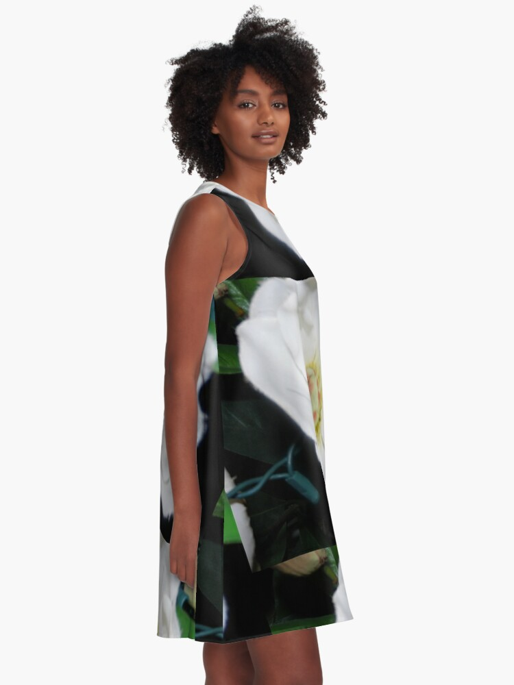 Alternate view of Cascading Bloom  A-Line Dress
