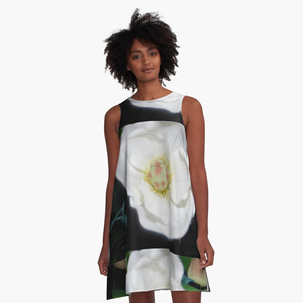 Cascading Bloom  A-Line Dress