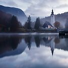 Morning at Lake Bohinj in Slovenia by Ian Middleton