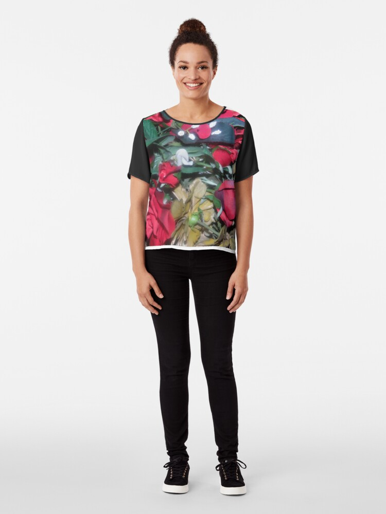 Alternate view of Petals Collection  Chiffon Top