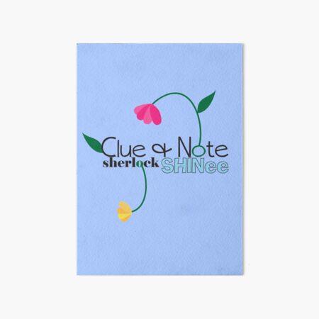 Clue & Note  Art Board Print