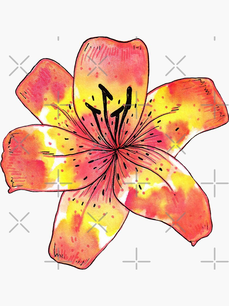 Watercolor Tiger Lily by SaradaBoru