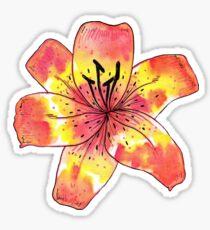 Aquarell Tigerlilie Sticker