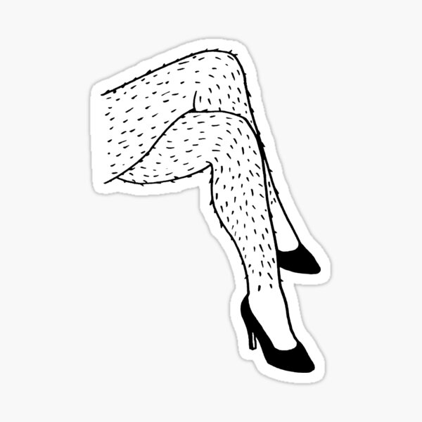 Hairy Legs Sticker