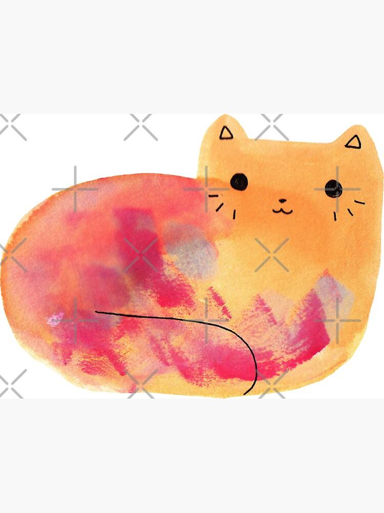Colorido gato acuarela de SaradaBoru