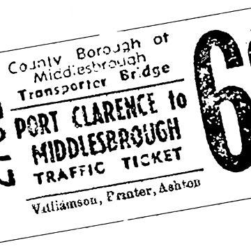 Vintage Transporter Ticket 6d by masseygoose