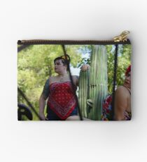 Ladies Thru The  Wagon Wheel Studio Pouch
