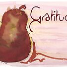 Gratitude Red Pear by dkatiepowellart