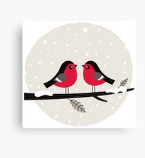 New in shop : Christmas vintage 2 birds edition Canvas Print