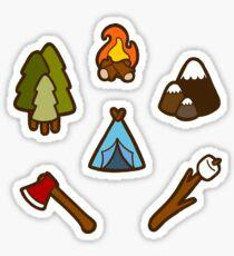 Le camping est cool Sticker