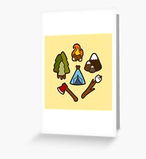Camping is cool Greeting Card
