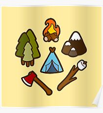Camping is cool Poster