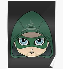 The Green Arrow Illustration (Head Shot) Poster