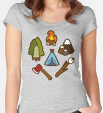 Camping is cool Women's Fitted Scoop T-Shirt