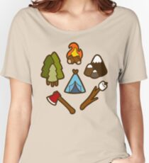 Camping is cool Women's Relaxed Fit T-Shirt
