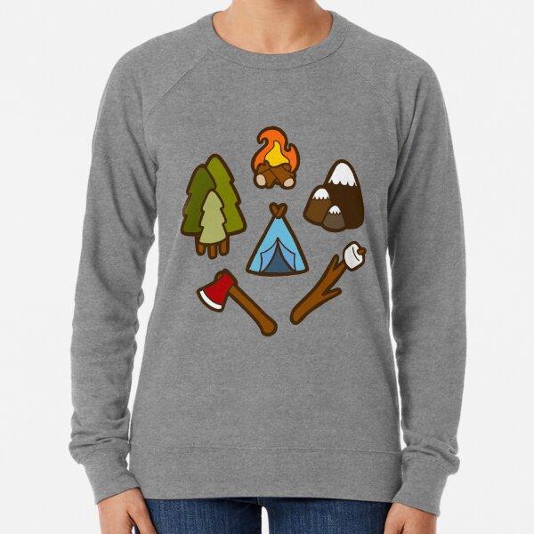Camping is cool Lightweight Sweatshirt