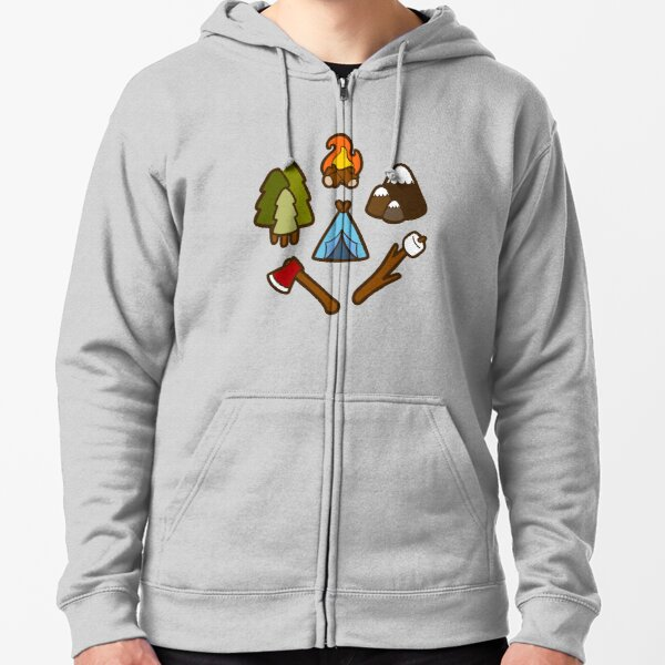Camping is cool Zipped Hoodie