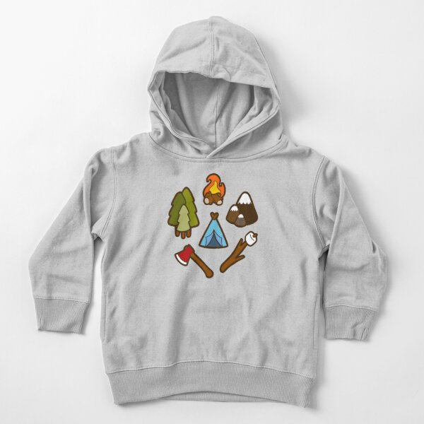 Camping is cool Toddler Pullover Hoodie
