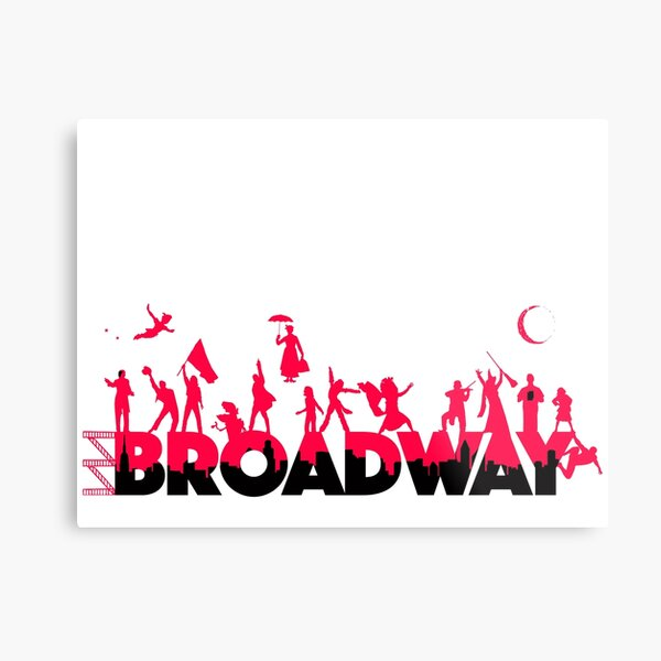 A Celebration of Broadway Metal Print