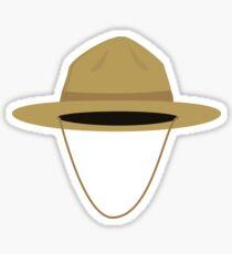Brown park ranger hat Sticker