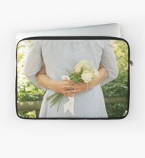 Wedding Couple Embracing Each Other Laptop Sleeve
