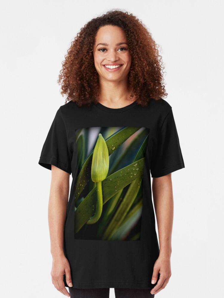 Alternative Ansicht von Ich warte nur auf Bloom Slim Fit T-Shirt