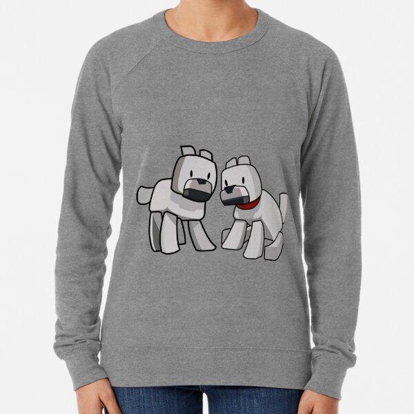 Minecraft Wolf / Minecraft Dogs Lightweight Sweatshirt