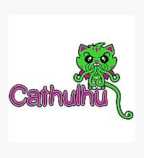 Cathulhu (Lovecraft Loves Cats!) Photographic Print
