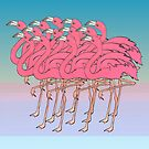 a flock of flamingos 2 by Bronia Sawyer
