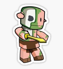 Minecraft Zombie Pigman Sticker