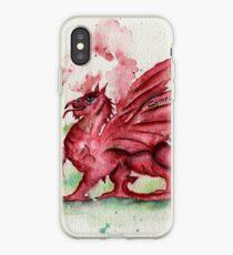 Welsh Dragon Watercolour iPhone Case