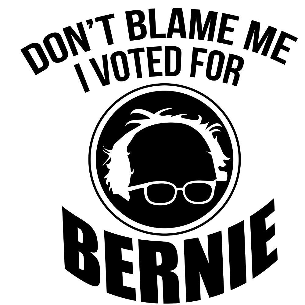 Don't Blame Me, I Voted For Bernie by wearitout