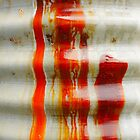 Aussie Corrugated Galvanised Iron Abstract #2 by Lexa Harpell