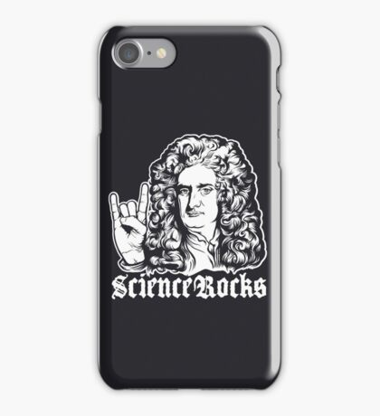 Sir Isaac Newton Science Rocks iPhone Case/Skin