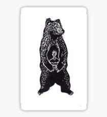 Cupcake Bear Cub Sticker